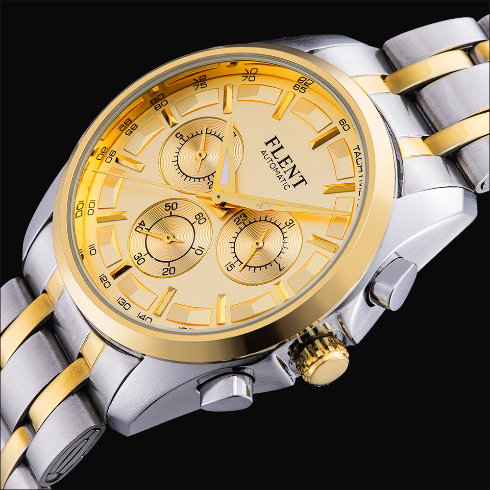 Fashion Mens Automatic Mechanical Business full steel watches luxury brand sport waterproof Stylish Casual clock relojes