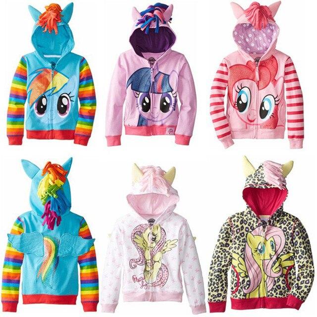 Girl Jacket Cute little Girl ponys Kids Cartoon Jacket Children Jaqueta Outerwear & Coats Meninas Jackets for spring and autumn