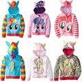 Ponys Jaqueta da menina da menina Bonito Dos Miúdos Dos Desenhos Animados Crianças Jaqueta Jaqueta Casacos & Coats Meninas Casacos para a primavera e outono