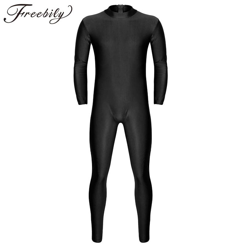 Newest Black Spandex Zentai Full Body Skin-Tight Jumpsuit Adults Zentai Suit Bodysuit Costume for Mens Unitard Lycra Dancewear