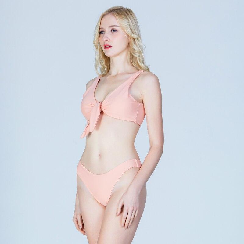 Swimming Suit Two Pieces Female Swimwear Bikini Swimming Bathing Suit For Women Ruffle High Cut Bodysuit Bather Maillot De Bain
