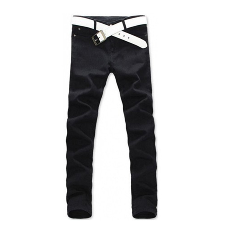 2017 Men Casual Jeans Mid Pencil Pants Stylish Designed Straight Slim Fit Trousers fashion europe style printed jeans men denim jeans slim black painted pencil pants long trousers tight fit casual pattern pants