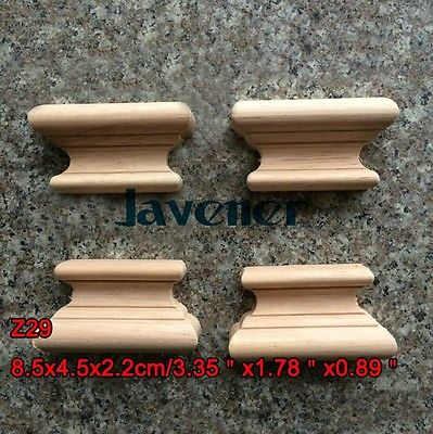 Z29 -8.5x4.5x2.2cm Wood Carved Onlay Applique Carpenter Decal Wood Working Carpenter Table Leg