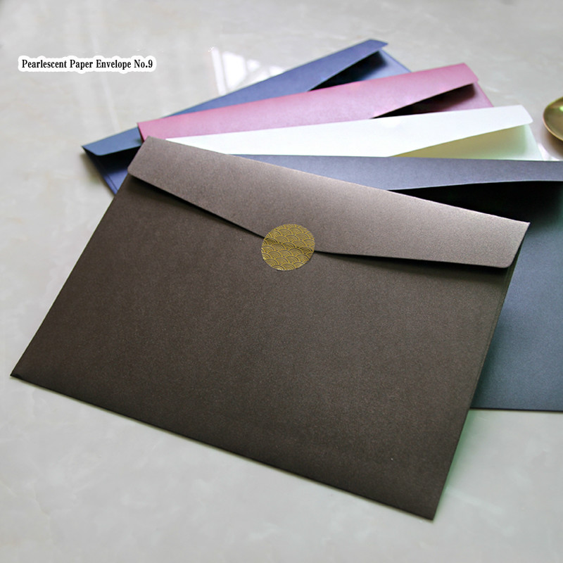 20pc/set Creative A4 Envelope 23*32cm Vintage Envelope For Postcard Christmas Wedding Large Exceed Thickness File Bag Stationery