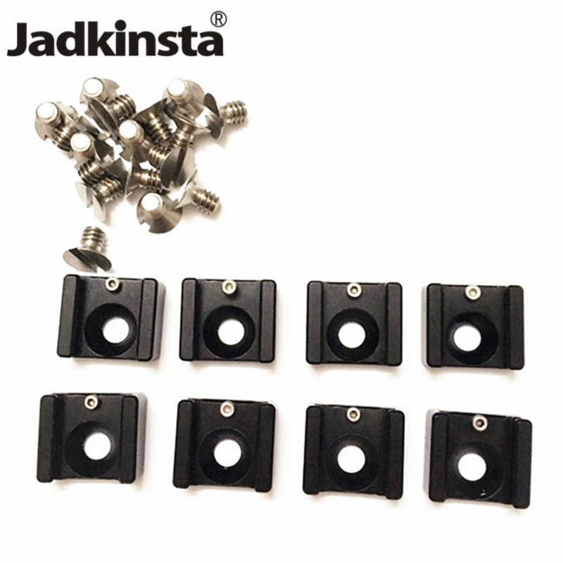 Jadkinsta Aluminum Alloy Hot Shoe Mount Adapter with 1/4 Screw for Umbrella Holder Flash Bracket Wireless Trigger Cold Shoe