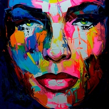 Abstract Woman Face Art Painting Modern On Wall decoration For Home Customized and Wholesale