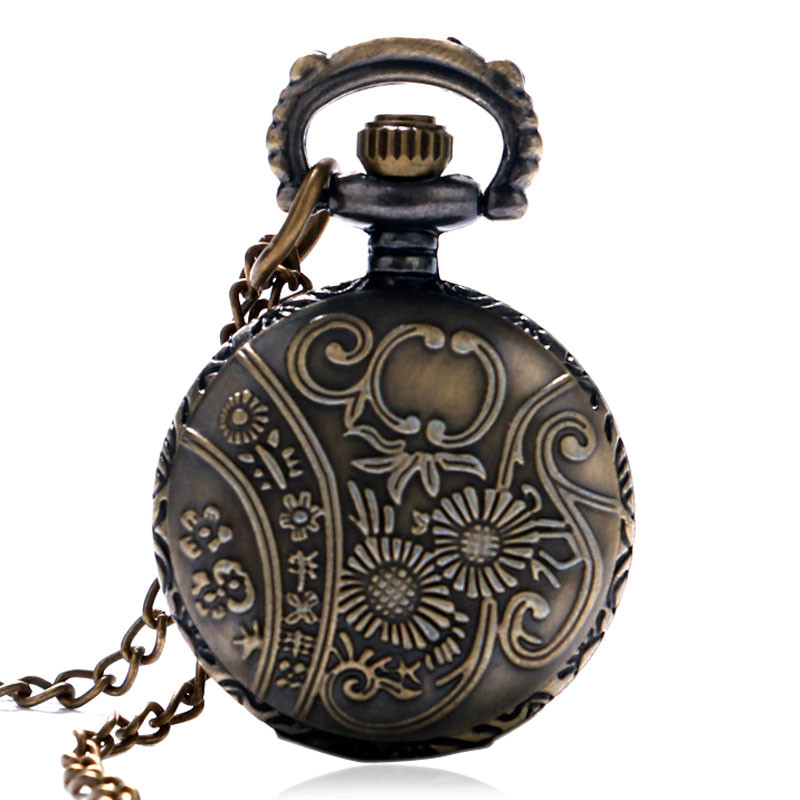 Antique Small Pocket Watch Delicate Train Steam Locomotive 3D Carving Slim Necklace Mini Clock Special Gifts for Children Boys (7)