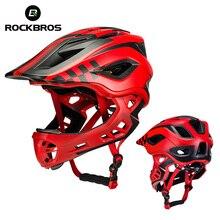 ROCKBROS 2 In 1 Full Covered Helmets chirldren mtb bike helmet EPS protect head cycling boy Safety Hats girls Animals cap