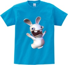 2019 Boys/Girls/Baby Print T Shirt Crazy Rabbit Cartoon T Shirt Children O-Neck Short Sleeve Tops Tee Kids Cute Casual T-shirt children s anime my neighbor totoro printed t shirt kids great casual short sleeve tops boys and girls cute t shirt
