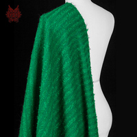 Designer American Style Green 100 Wool Knitted Fabric For Winter Sweater SP2606 Wool Fabric For Sewing