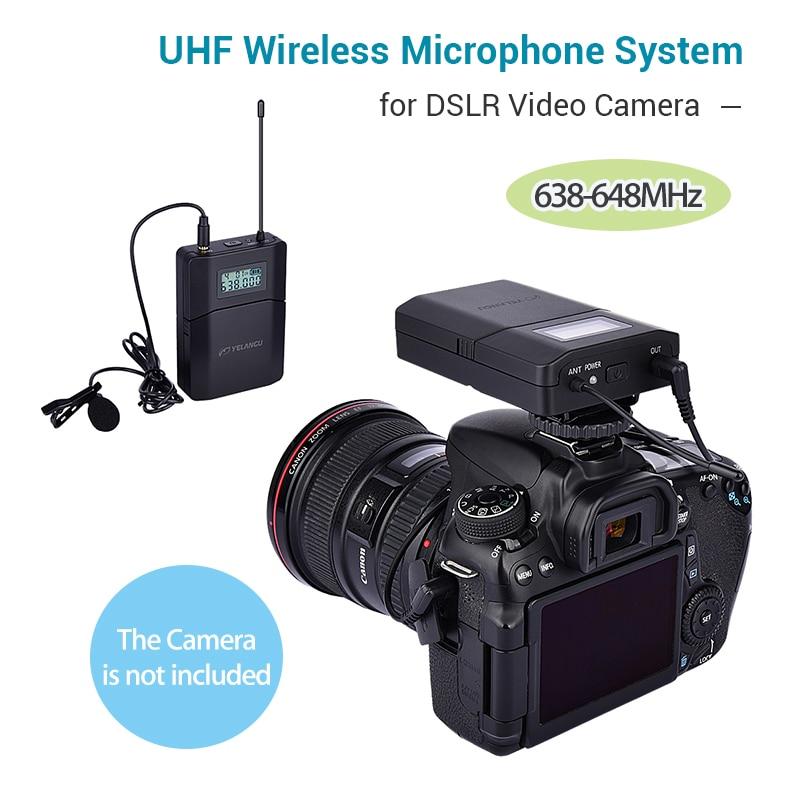 100 M 538-594 MHz Microphone sans fil 100 canaux système UHF professionnel pour DSLR caméscope enregistreur récepteur + émetteur
