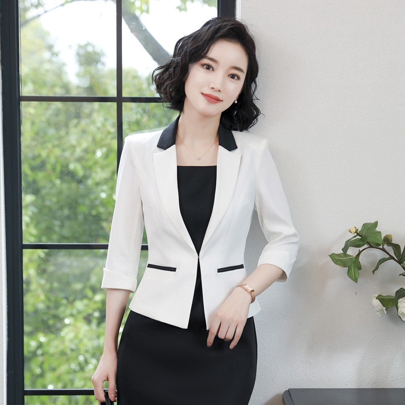 2020 Spring 3 Quarter Sleeve Small Suit Lady Formal Work Occupation Dress Suit Blazer Jacket