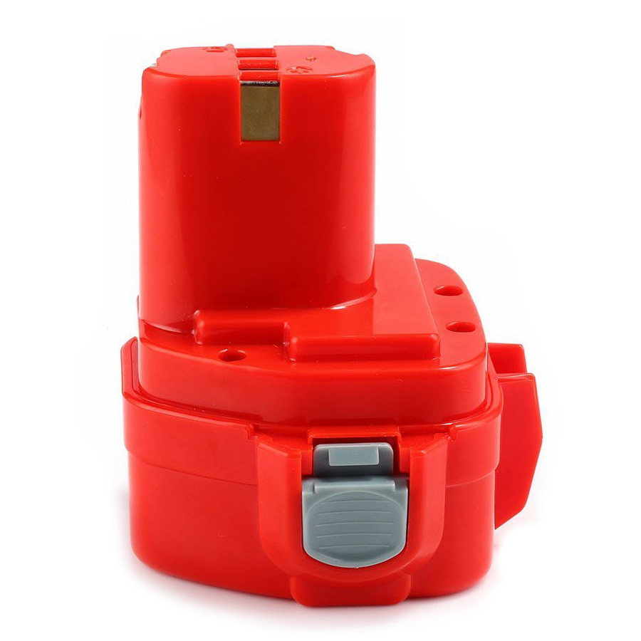 12V 1500mAh Power Tool Replacement Battery for Makita 1200 1220 1222 1233 1234 192598-2 192681-5 Red