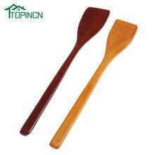 Topinn não-vara espátula de madeira turner frito pá cozinhar utensílios de cozinha pá