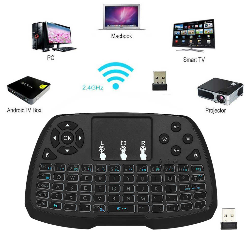 2.4GHz Wireless Keyboard Touchpad Mouse Handheld Remote Control for Android TV Box Smart TV PC Notebook