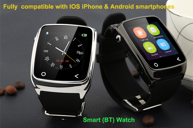 550d8075c7d i8 SmartWatch MTK2501M Fitness Tracker Bluetooth Smart watch for Apple  iPhone & Android Samsung Huawei Mi HTC Smartphone 2 Color