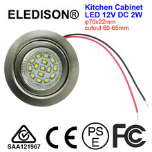Kitchen LED Hoods Bulb Light 2W Mounted 12V DC Input Cutout 60mm Smoke Exhauster Kitchen Ventilator Lighting Lamp 3000K 6000K