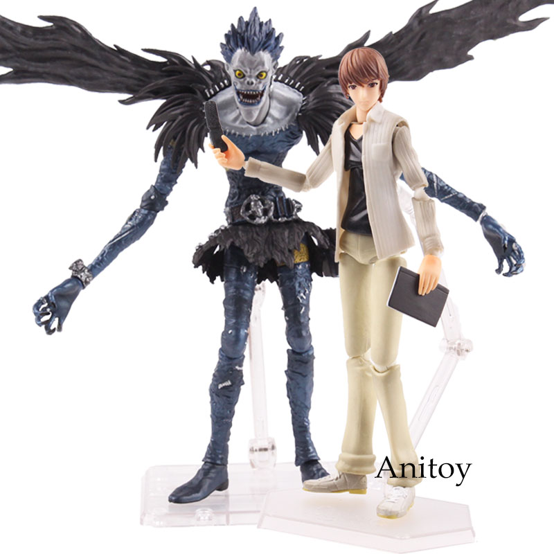 цена Anime Deathnote Figutto! Figma 009 Ryuk Figma 008 Death Note Yagami Light Ryuuku Ryuk Action Figure Collection Model Toy 19cm