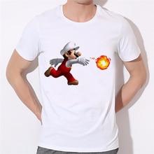 Geek Life Super Mario Nintendo Printed T-shirt Brand Mens Tshirt Funny Batman Starwars T Shirt Fashion White O-neck Tee 37N-53#