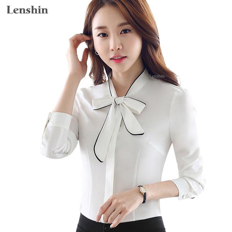 Aliexpress Com Buy Lenshin Self Piping White Blouse