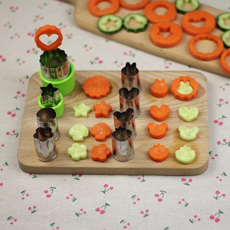 Molde de cortador de frutas y verduras de arroz 8 unids/set flores de dibujos animados molde de cortador de galletas de acero inoxidable-in Desfibradoras y máquinas de cortar from Hogar y Jardín on Aliexpress.com | Alibaba Group
