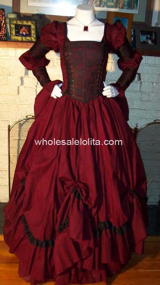 В готическом стиле, стиле ренессанс пират платье викторианская эпоха платье тема костюм платье - Цвет: wine red
