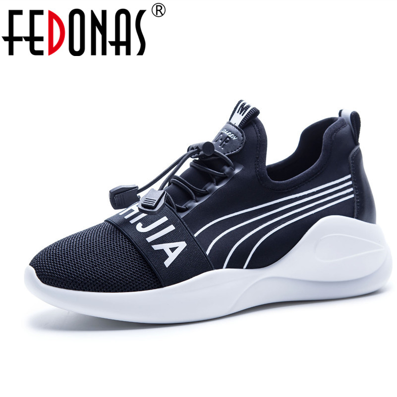 FEDONAS New Brand Fashion Women Mesh Platforms Casual Shoes Woman Flats Ladies Four Season Sport Sneakers Breathable Shoes vesonal brand faux fur women shoes flats 2017 winter warm velvet female fashion ladies woman sneakers casual footwear tsj 189