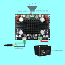 XH-M571 super poder mono placa amplificador digital TDA8954TH puro depois da aula de amplificação de áudio de 420 w 2018