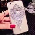 Luxo diamante broche de pérolas pingente pc hard case tampa traseira casos de telefone para samsung galaxy note 7 2016 j3 j5 j7 j310 j510 j710
