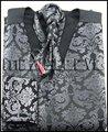 Nova chegada transporte livre do noivo colete (colete + lenço + gravata abotoaduras + lenço)