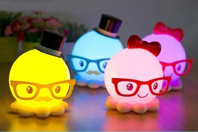 Nuevo usb recargable lámpara led pulpo 400 mah dc 4 v lindo diseño ...