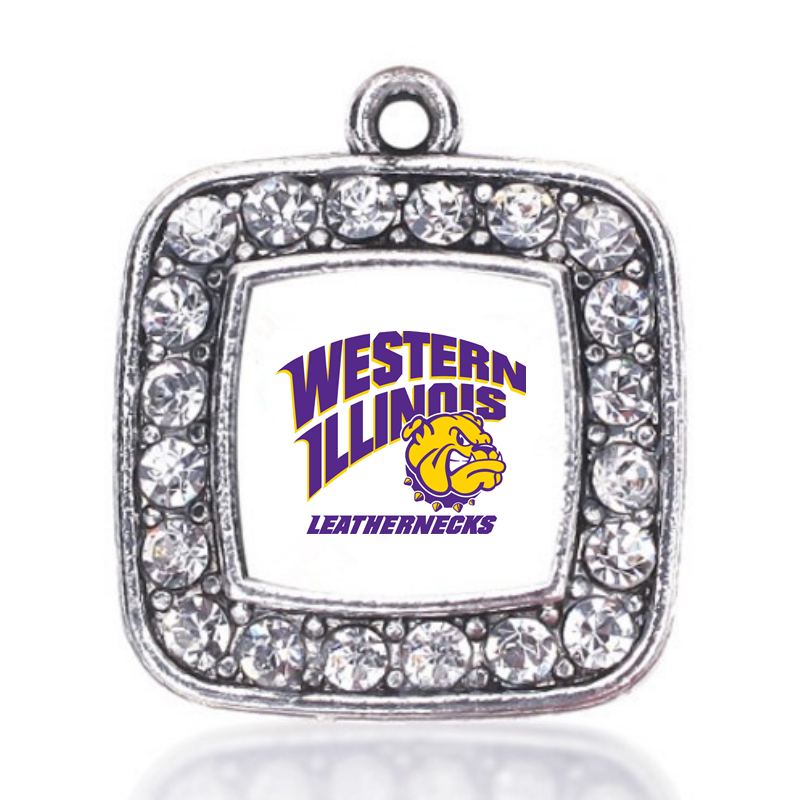Western Illinois Leathernecks CHARM ANTIQUE SILVER PLATED JEWELRY