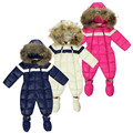 Cheap Sale Winter Infant Clothing Newborn Baby Snowsuit Boy Snow Overalls With Fur Toddler Snow Wear Coat Children Warm Parka