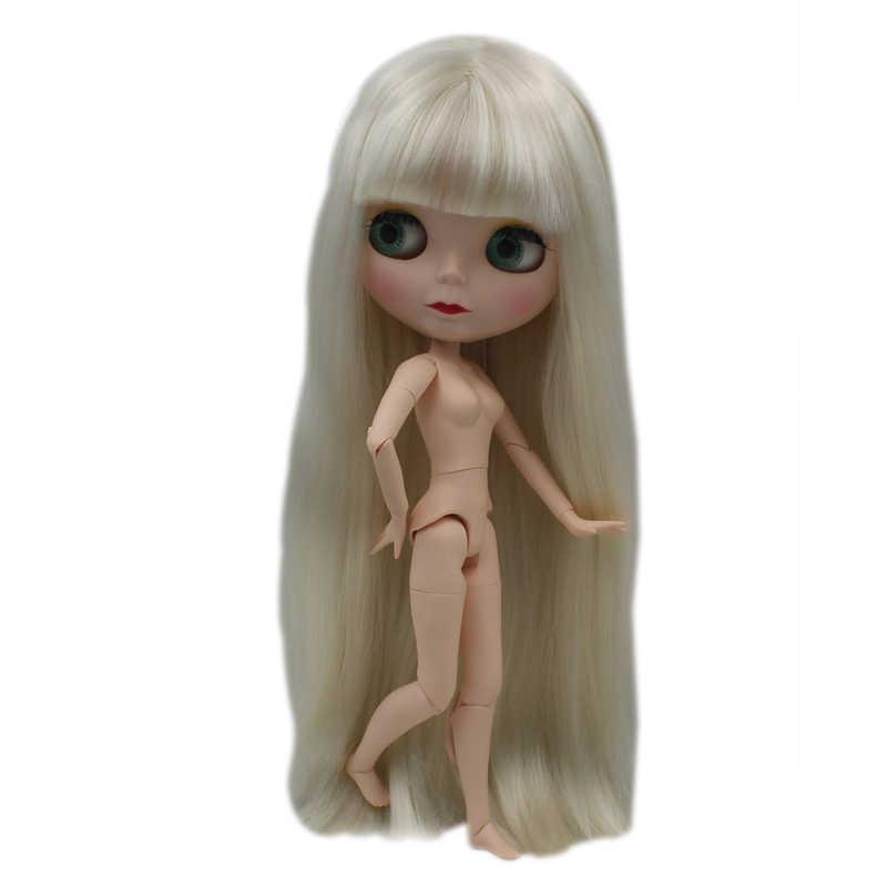 Blyth Boneca BJD, Boneca Blyth Neo Fosco Rosto Bonecas Pode Mudado de Maquiagem e Vestido Nude Personalizado DIY, 1/6 Bola Bonecos Articulados SO32