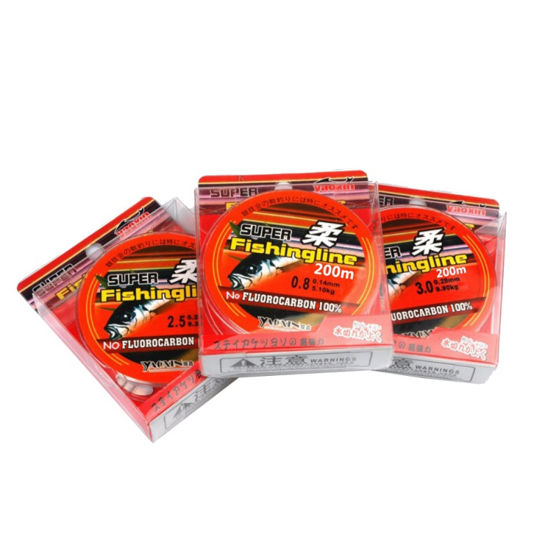 Fishing Line Super Strong 200m 100% Nylon Transparent Not Fluorocarbon Fishing Tackle Tough Smooth Good Water Cut