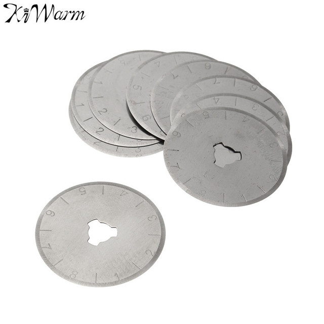 Portable10Pcs/set 28mm Rotary Cutter Blades With Case Sewing Craft Cutting Fabric Paper...