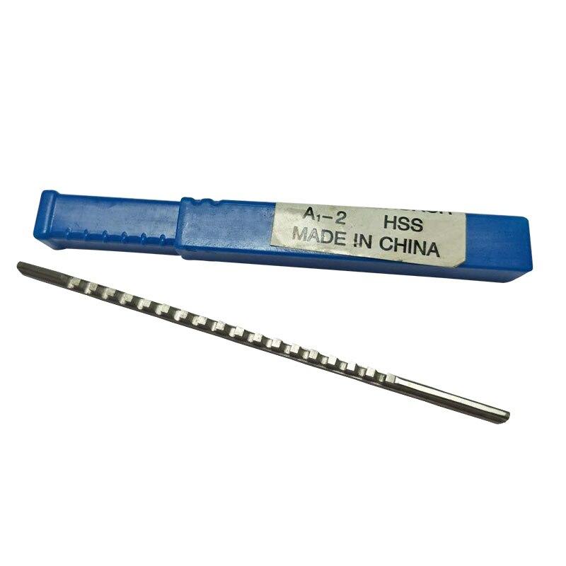 Métrica de Aço de Alta Velocidade para a Máquina de Corte Keyway Broach Tamanho Faca Ferramenta a1 – 2 Push -tipo Chaveta Espeto 2mm um Hss