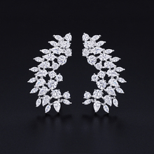 XIUMEIYIZU Fashion New Arrival Mixed Red and White Cubic Zirconia Ear Climber