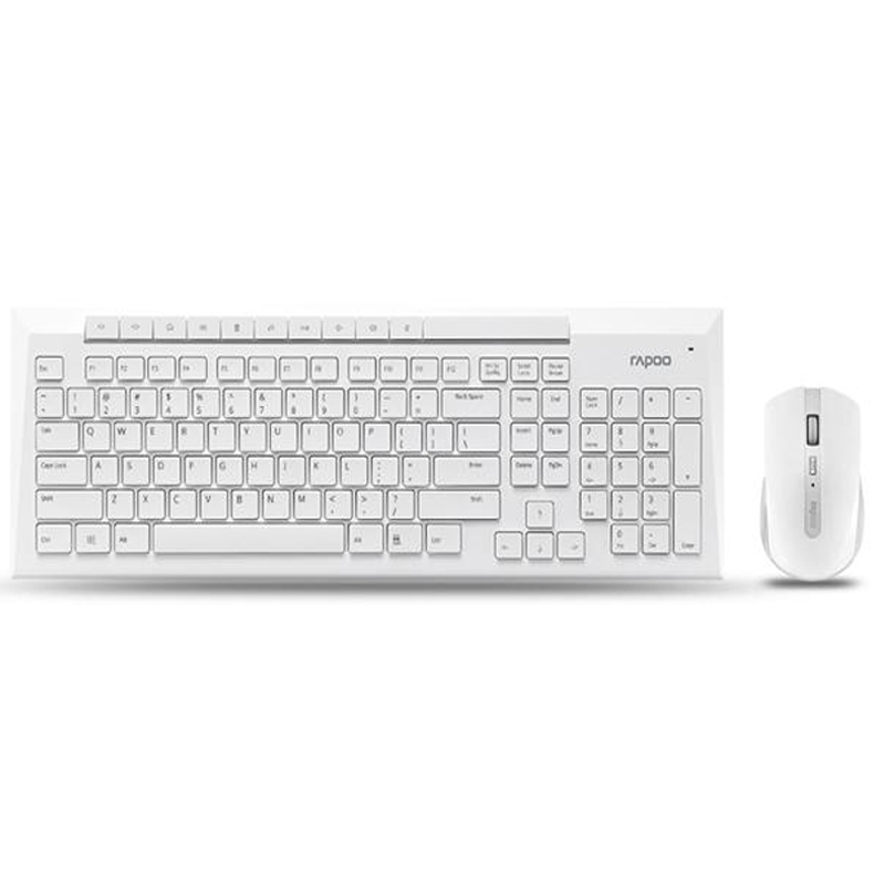 ФОТО Original Rapoo X336-white 5G wireless keyboard and mouse combo 1000DPI waterproof for home office user [without battery]
