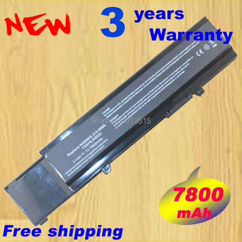 9 Cell 7800mAh BATTERY for DELL Vostro 3500 3400 3700 Y5XF9 7FJ92 C 4JK6R 04GN0G 0TXWRR CYDWV 312-0997 312-0998 +free shipping9 Cell 7800mAh BATTERY for DELL Vostro 3500 3400 3700 Y5XF9 7FJ92 C 4JK6R 04GN0G 0TXWRR CYDWV 312-0997 312-0998 +free shipping