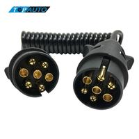 Tirol Europe Standard 7 Pin Trailer Plug N Type Wiring Spring Cable Connector Towing Plug T23489