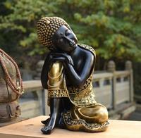 Wholesale Buddhist supplies # home family Bless Safe good luck Buddha Southeast Asia Sleeping Buddha art statue