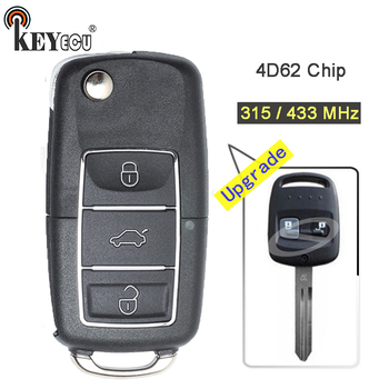 KEYECU 315 / 433MHz 4D62 Chip Upgraded Flip Folding 2 Button Remote Car Key Fob key for Subaru Impreza Forester Liberty Outback