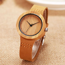 SIHAIXIN Wooden Bamboo Case Watch Women Top Brand With Small Leather Ladies Buckle Clock As Female Vintage Personalized Gift
