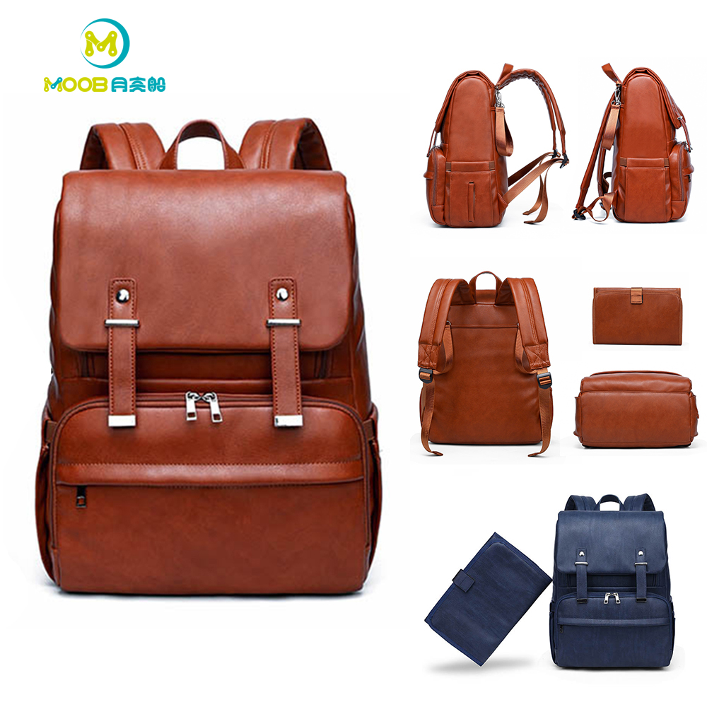 Baby Bags for Mom Maternity Nappy Nursing Changing Bag PU Leather Waterproof Backpack Large Capacity Baby Stroller Bags  MOOBBaby Bags for Mom Maternity Nappy Nursing Changing Bag PU Leather Waterproof Backpack Large Capacity Baby Stroller Bags  MOOB