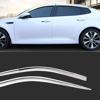 1 Set Brand New Chrome Side Vent Sun Shade Window Visors Rain Guard Deflectors For Kia K5 2016