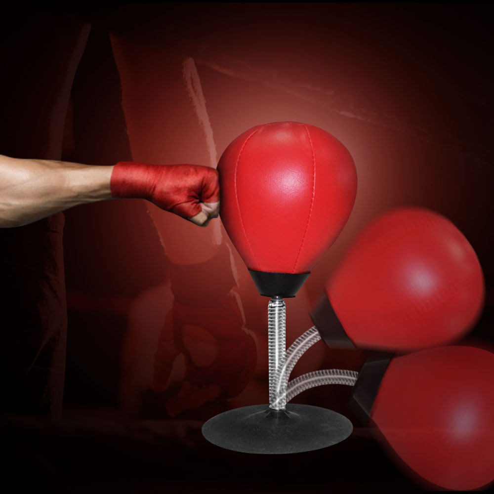 Albreda Desktop Boxing Punching Bag Speed Ball Bags Pu Punch Training Fitness Gym Sports Practical Stress Release Security & Protection