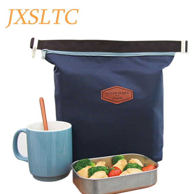 Women Fashion Portable Insulated Canvas Lunch Bag Thermal Food Picnic Lunch Bags for Kids Men Tote Cooler Lunch Box Bag