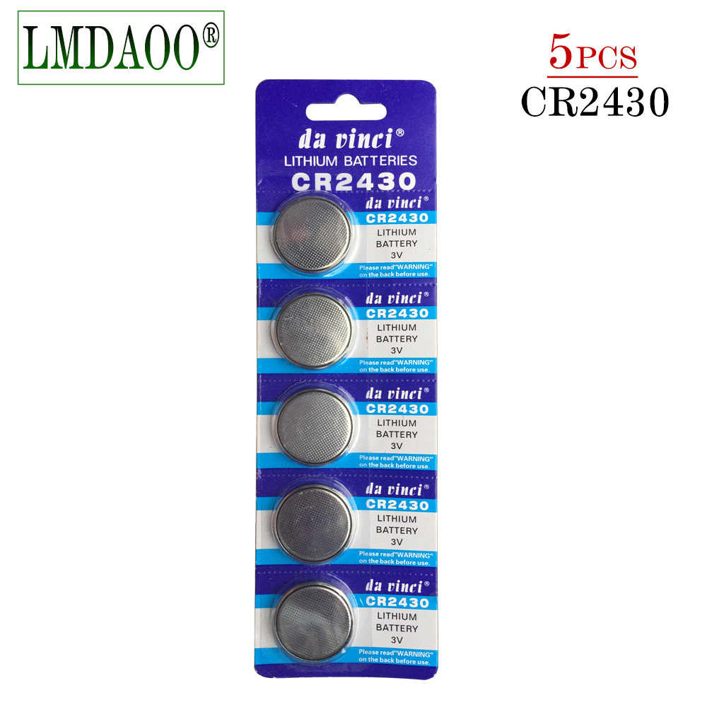 Pilas Boton 5pcs/Pack Original Wholesale CR2430 DL2430 2430 3V Coin Cell Button Battery Batteries For Watch Toy Headphone