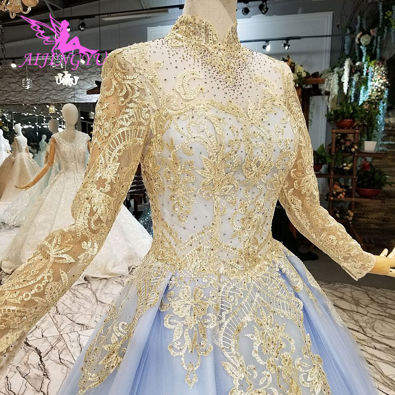 AIJINGYU Wedding Dress Ruffle Plus Size Gown Stores Styles Elegant Online Shop Fat Size African Gowns All Wedding Dresses